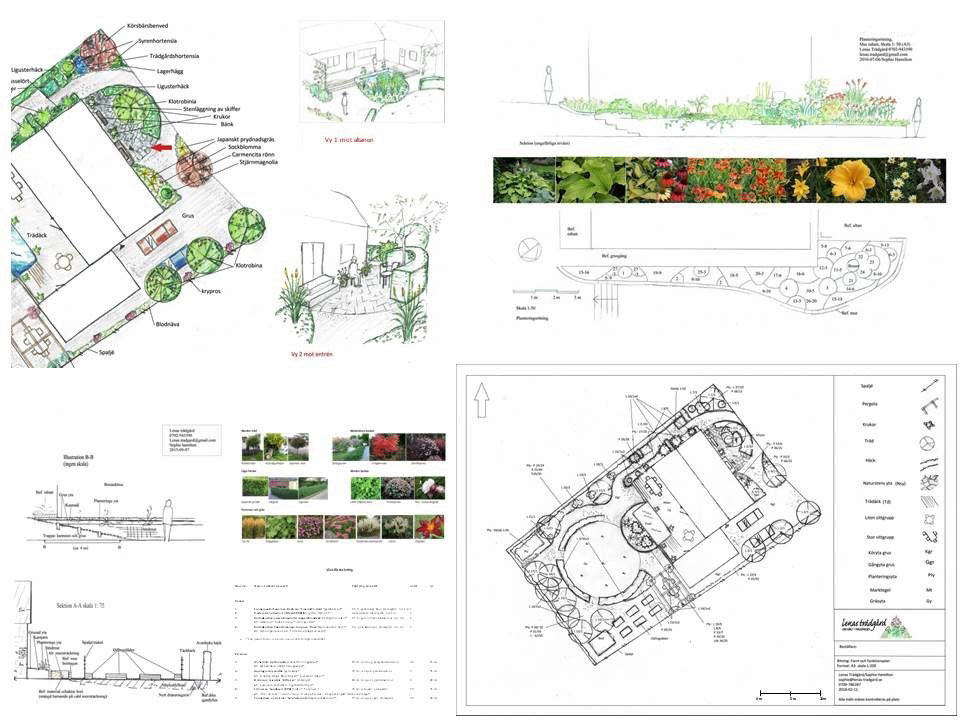 trädgårdsdesign paket 3